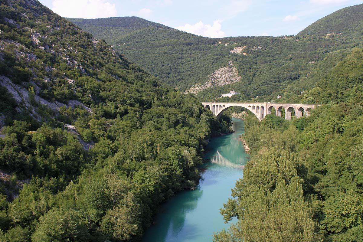 мост Солкан, Словения