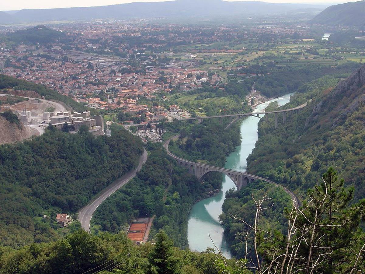 мост Солкан с высоты