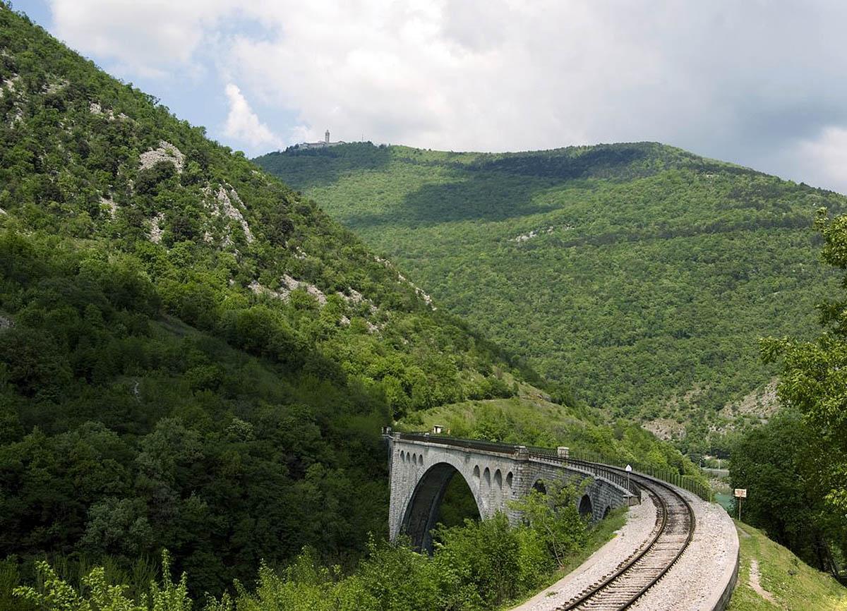 мост Солкан в Словении