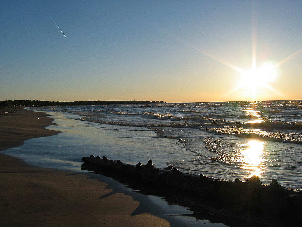 пляж озера Гурон