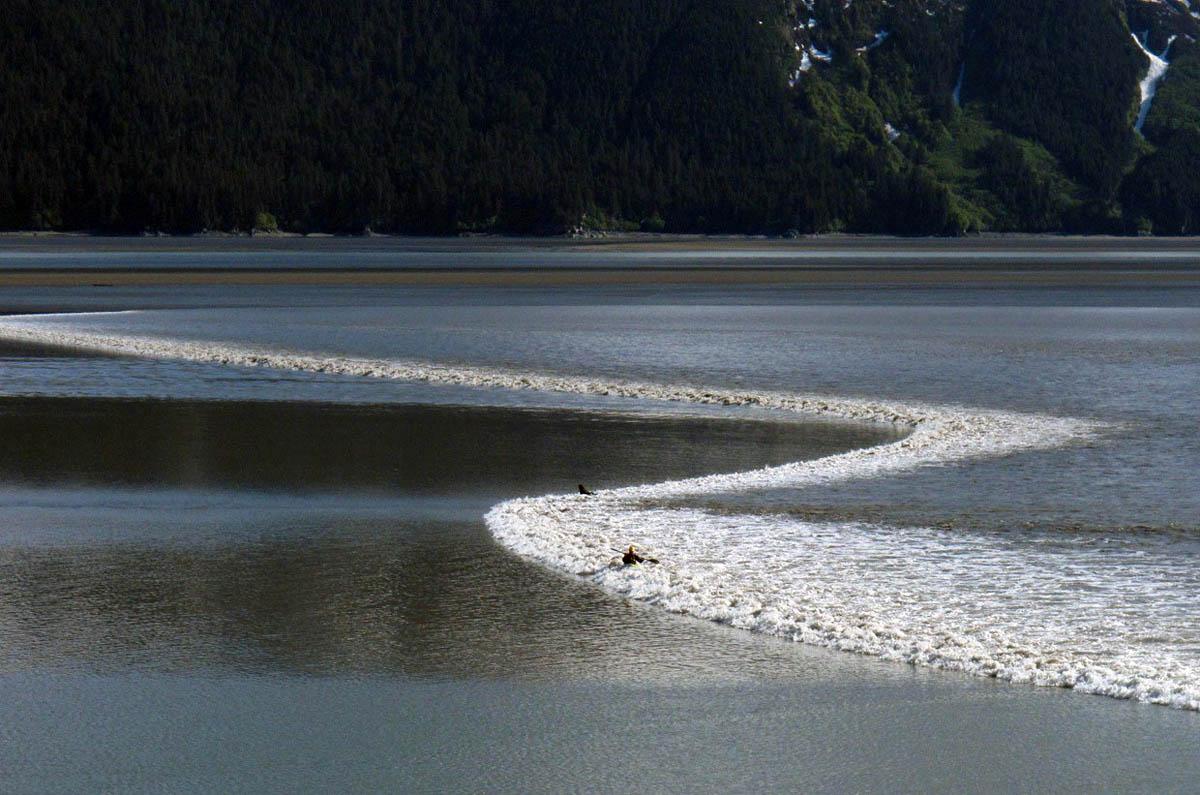 приливная волна на реке Северн