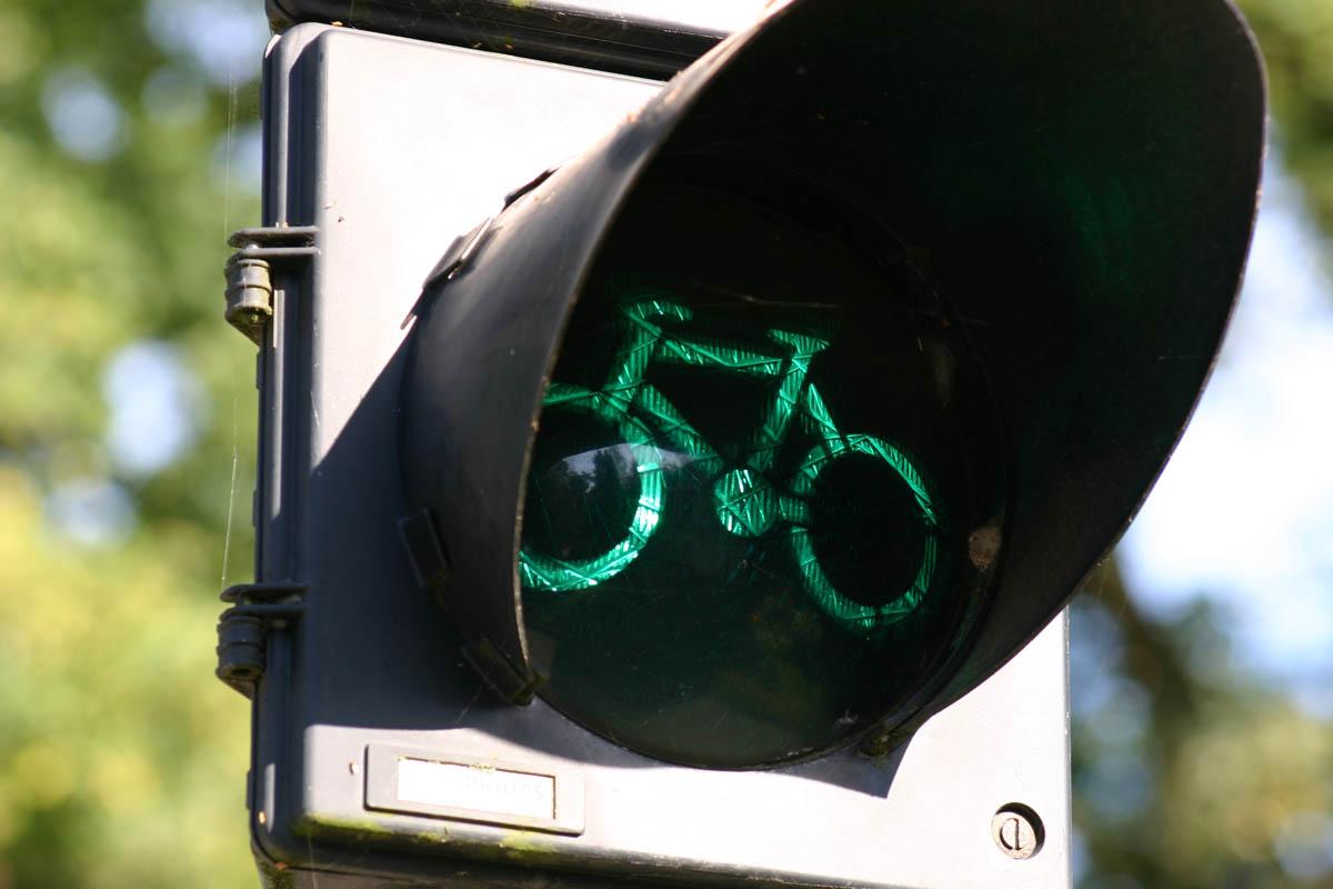 велосветофор в Амстердаме