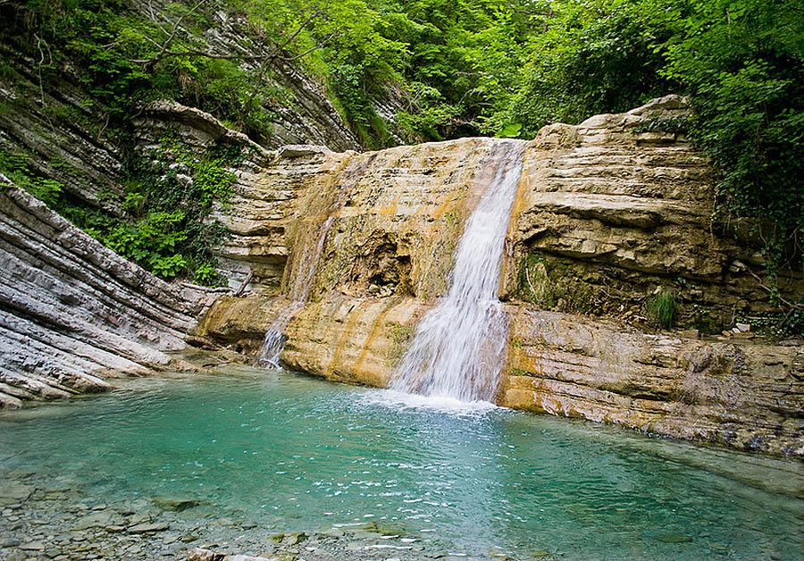 водопад Куаго в Геленджике