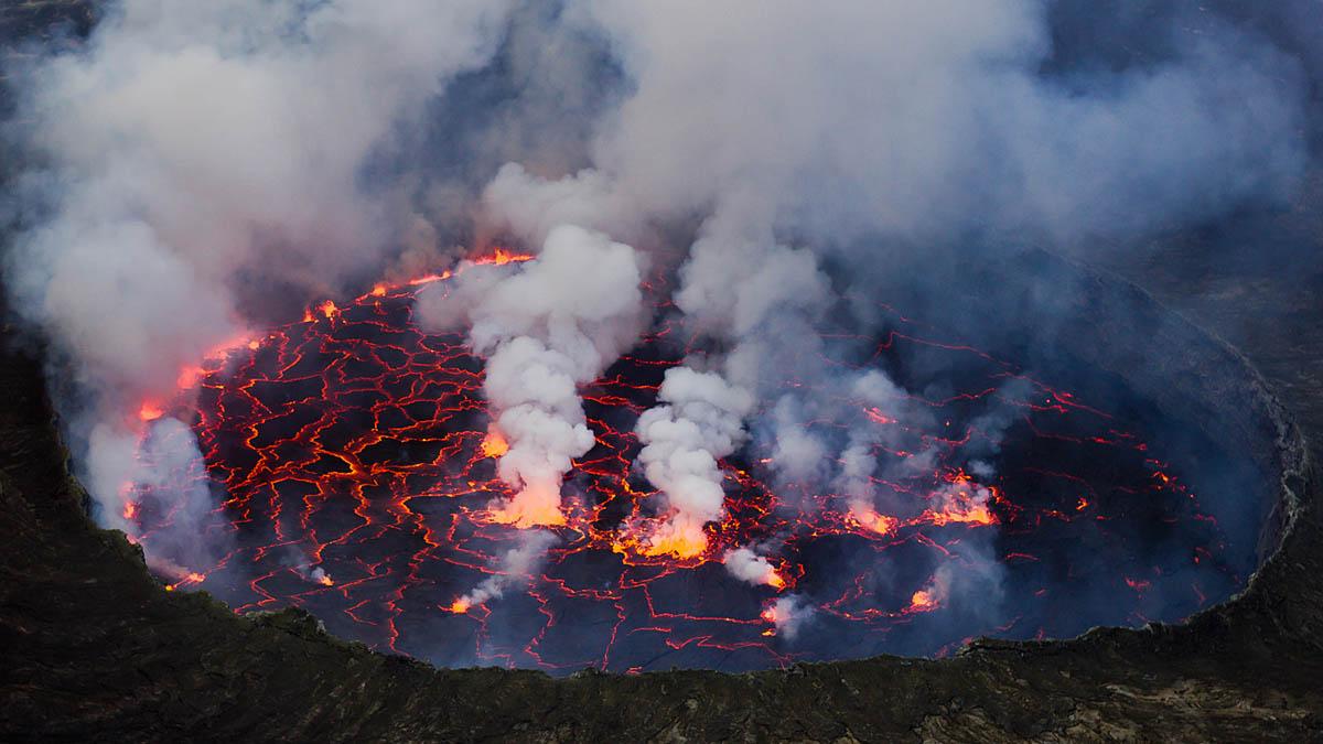 вулкан Ньирагонго, Конго