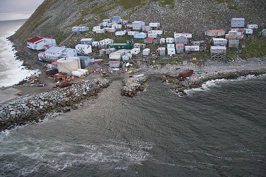 деревня на Малом Диомиде