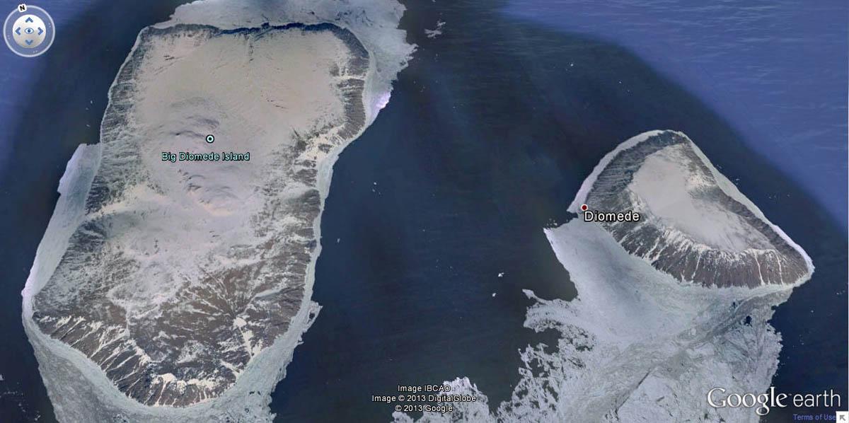 острова Диомида, американско-российская граница
