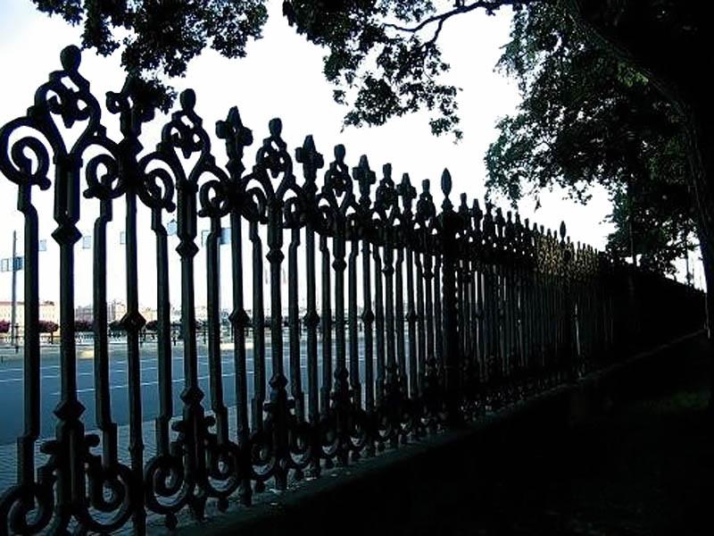 Румянцевский сад, ограда