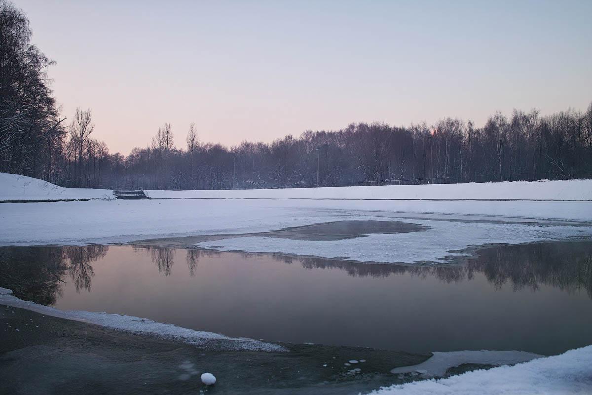 река Серебрянка зимой