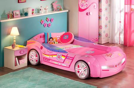 кроватка-машинка для девочки