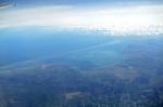 озеро Сиваш и Арабатская Стрелка с высоты