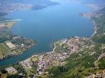 озеро Комо с высоты