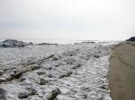 пляж Урзуфа зимой