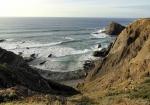 вид со скал на океан возле пляжа Аррифана