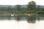 туристы в лодках на реке Одер