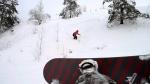 сноубордисты на Вышгоре
