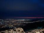 вид с горы Парнита на ночные Афины