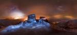 вид с горы Синай ночью
