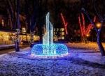 светодиодный фонтан в сквере Пале-Рояль, Одесса