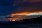 закат над озером Иссык-Куль и Кунгей Алатау