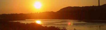закат на реке Латорица