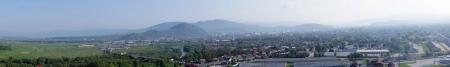 вид на Мукачево из замка (панорама)
