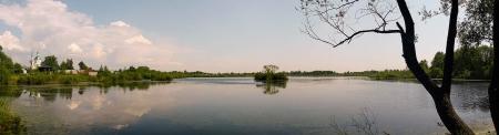 панорама озера Киово