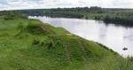 древние курганы на реке Волхов