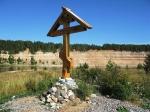 поклонный крест в Опоках