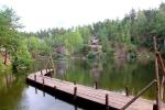 мостик и избушка на Коростышевском озере
