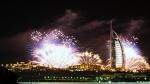 новогодний салют в Дубае