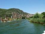 река Дальян и ликийские гробницы в скале
