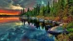 озеро Байкал на закате