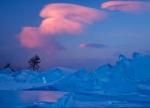 зимний вечер на Байкале