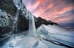 водопад Сельяландсфосс зимой