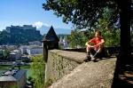 вид с холма Капуцинерберг на Зальцбургский музей