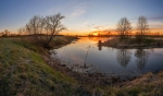 рассвет на реке Дубна