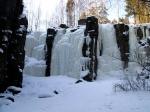 Уковский водопад зимой
