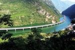 эко-мост вдоль реки в Китае