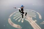 прыжок с парашютом в Дубае