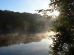 туман на Шелеховском озере