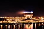 архитектура ночной Казани