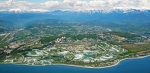 Олимпийский парк Сочи с высоты