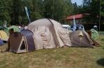 современная многосекционная палатка