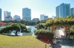 Hamarikyu Gardens in Tokio