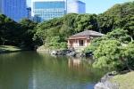 чайный домик в парке Хамарикю, Токио