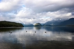озеро Манапоури в Новой Зеландии