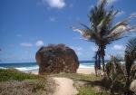 лавочка на камне, пляж Кэттлвош