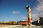 скульптура Женщина и птица в парке Жоана Миро