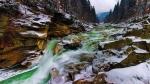 водопад Пробий зимой