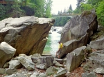 вид на мост над водопадом Пробий